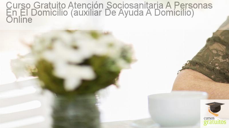 Curso gratuito Atención Sociosanitaria a Personas en el Domicilio ...