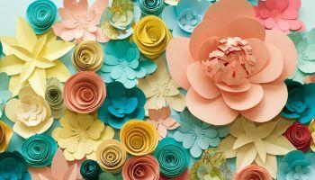 Curso Gratuito Cómo hacer flores de Papel Paso a Paso